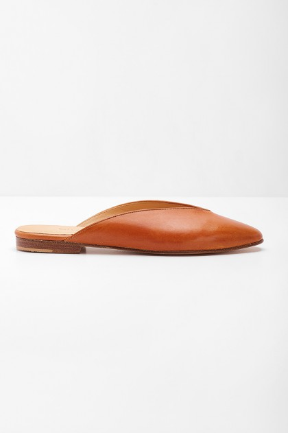 Athena Mules Brown Fieno